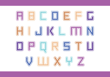 Stitched Letter Vector Pack - бесплатный vector #425285