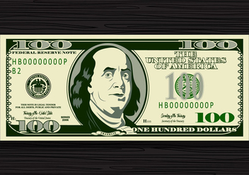 100 Dollar Bill Vector - vector #425305 gratis