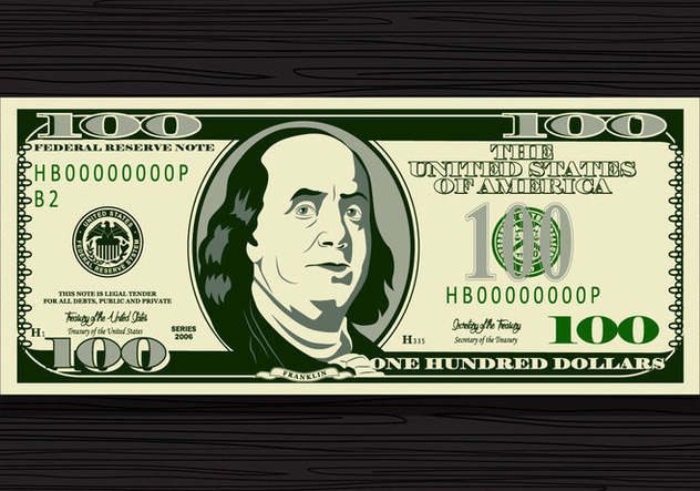 100 Dollar Bill Vector - Free vector #425305