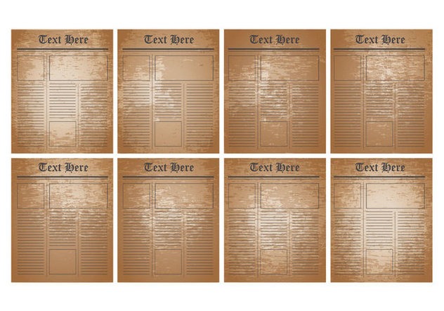 Free Old Newspaper Template Vector - vector gratuit #425355