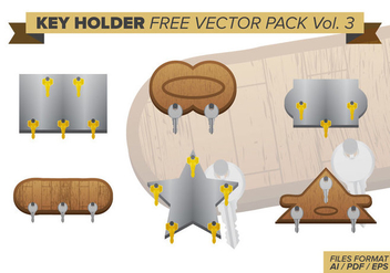 Key Holder Free Vector Pack Vol. 3 - Kostenloses vector #425385