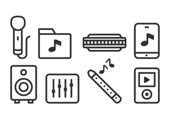 Free Music Icons - vector #425425 gratis