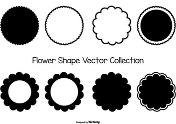 Flower Vector Shape Collection - vector gratuit #425435