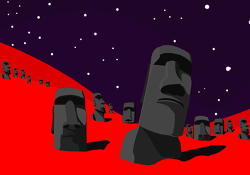 Easter Island Vector Art - бесплатный vector #425655