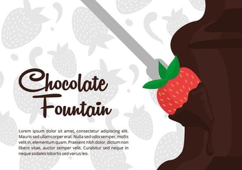 Chocolate Fountain Vector Background - vector gratuit #425785