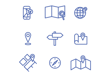 Location Icons - vector gratuit #425825