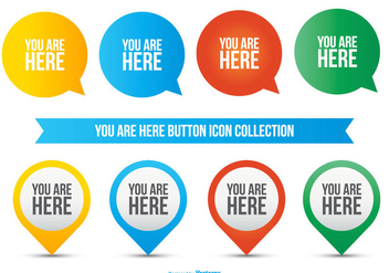 You Are Here Icon Collection - vector #425865 gratis