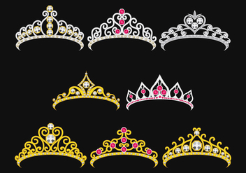 Set Of Princesa Crownn - Free vector #425885