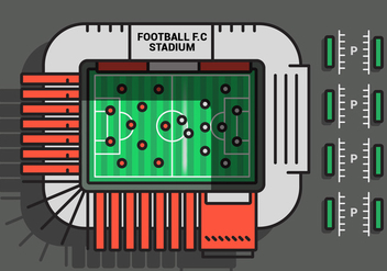 Football Ground Vector Illustration - бесплатный vector #425915