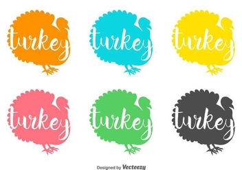 Wild Turkey Vector Badges - vector gratuit #425945