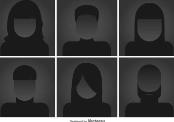 Headshots Flat Vector Icons - бесплатный vector #425955