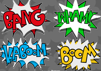 Vector Comic Speech Bubbles Icons - Kostenloses vector #425965