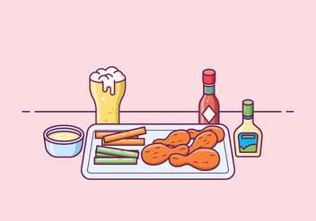 Free Buffalo Wings Illustration - бесплатный vector #426095