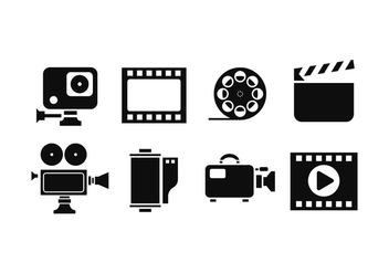Cinematography Silhouette Icon Vectors - vector gratuit #426135