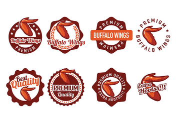 Buffalo Wings Badge Vectors - Free vector #426235