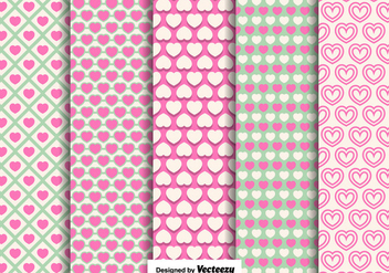 Vector Hearts Seamless Patterns - vector gratuit #426245