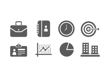 Business icons - vector gratuit #426255