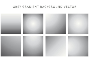 Grey Gradient Background Vector - vector #426275 gratis