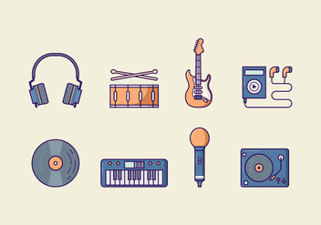 Free Music Vector Pack - бесплатный vector #426285