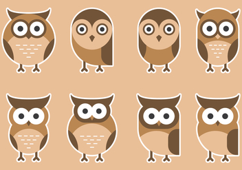 Colorful Cute Owls - vector gratuit #426305