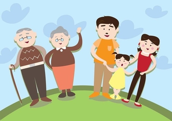 Multi-Generational Familia Vector - бесплатный vector #426365