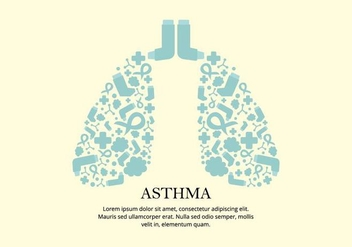 Asthma Remedy Vector Background - Free vector #426415