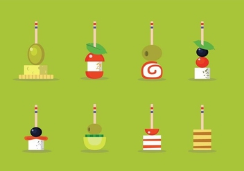 Canapes Sweetness Vector Illustration - Free vector #426435