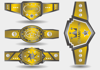 Gold Championship Belt - Free vector #426465