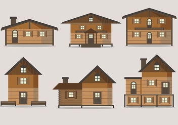 Free Chalet House Vectors - Free vector #426495