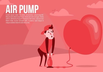 Love Air Pump Background - vector #426515 gratis