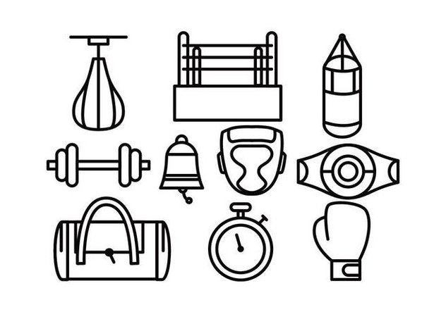 Free Boxing Vector Icons - Free vector #426525