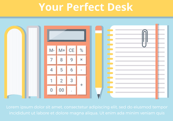 Free Office Desk Vector Elements - бесплатный vector #426685