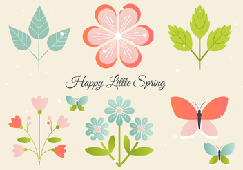 Free Floral Greeting Vector Elements - vector gratuit #426705