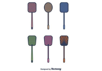 Fly Swatter Icons Vector - vector #426745 gratis