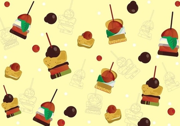 Canapes Sweetness Background Vector - vector gratuit #426785