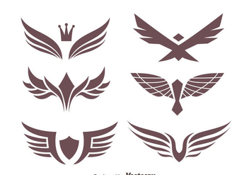 Eagle Seal Collection Vectors - vector gratuit #426795