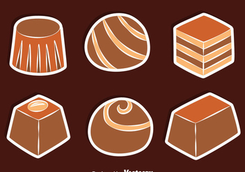 Chocolate Candy Vectors - Free vector #426805