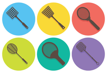 Free Fly Swatter Icons Vector - Kostenloses vector #426845