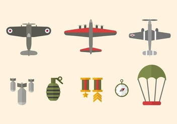Flat World War Vectors - бесплатный vector #426855
