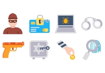 Free Robber and Theft Icons Vector - Free vector #426865