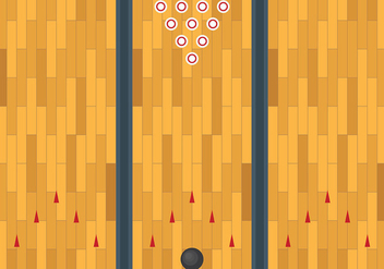 Free Bowling Lane Vector Background - Free vector #426905