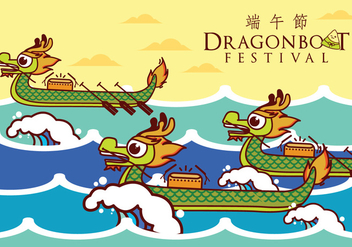 Dragon Boat Illustration - vector gratuit #426915