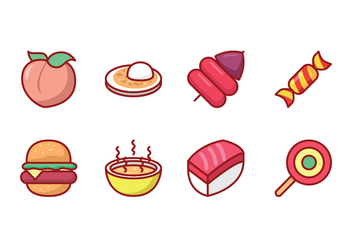 Free Food Icon Set - vector gratuit #426935