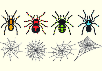 Set Of Tarantuala Vectors - Free vector #427055