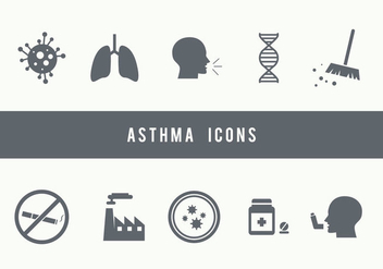 Asthma Icons - Free vector #427065