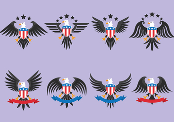 Eagle Seal Vectors Pack - Free vector #427125