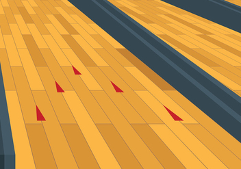 Free Bowling Lane Vector Background - vector gratuit #427135