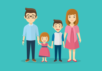 Familia Cartoon Free Vector - Kostenloses vector #427225