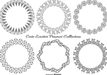 Cute Sketchy Easter Frames Collection - Free vector #427285