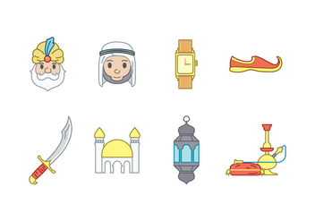Arabic Vector Icons - Free vector #427315